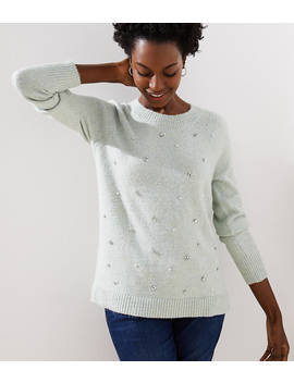 Pearlized Crystal Sweater by Loft