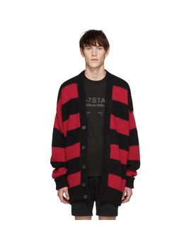 Black & Red Striped Cardigan by Dsquared2