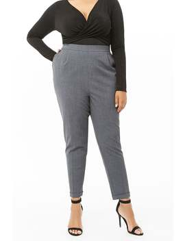 Plus Size Cuffed Straight Leg Pants by Forever 21