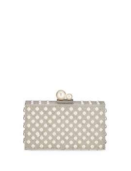 Clara Crystal Pearly Box Clutch Bag by Sophia Webster