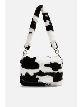 Teddy Faux Fur Cow Shoulder Bag by Topshop