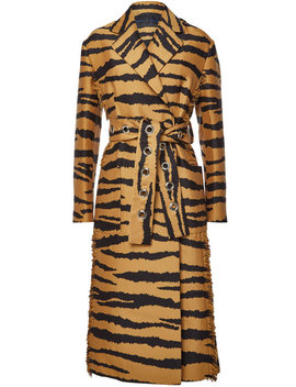 Printed Wool Coat With Silk by Proenza Schouler