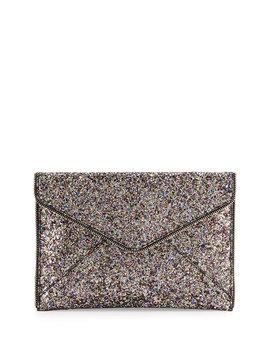 Leo Glitter Envelope Clutch Bag, Silver/Multi by Rebecca Minkoff