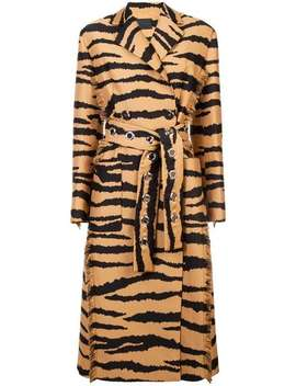 Tiger Jacquard Belted Coat by Proenza Schouler