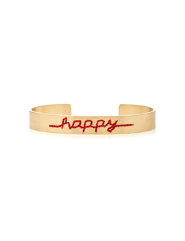 Happy Gold Plated Cuff by Roxanne Assoulin