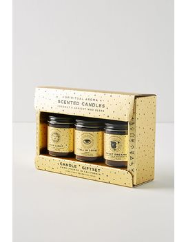 Spiritual Aroma Essential Oil Candle Gift Set by Anthropologie