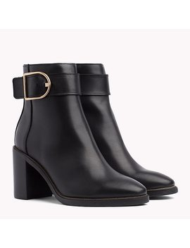 Block Heel Buckle Boots by Tommy Hilfiger
