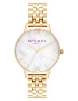 Mother Of Pearl Bracelet Watch, 30mm by Olivia Burton