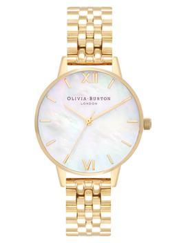 Mother Of Pearl Bracelet Watch, 30mm by Olivia Burton