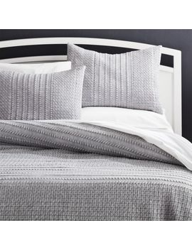 Doret Grey Jersey Quilts And Pillow Shams by Crate&Barrel