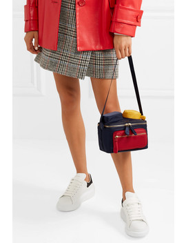 Chubby Color Block Leather Trimmed Shell Shoulder Bag by Anya Hindmarch