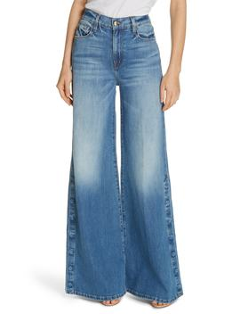 Le Palazzo Snap Away Hem Wide Leg Jeans by Frame