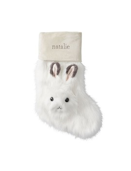 Arctic Hare Faux Fur Stocking by Pottery Barn Kids