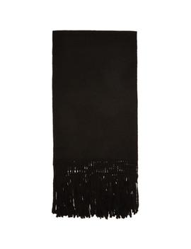 Black Fringe Scarf by Bed J.W. Ford
