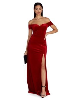 Addison Formal Sweetheart Velvet Dress by Windsor