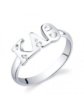 Sterling Silver Kappa Alpha Theta Letter Ring by Etsy