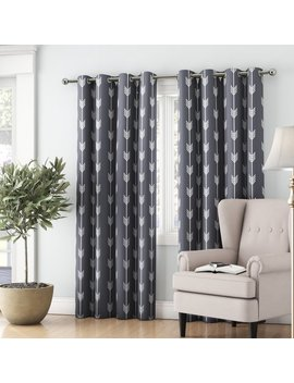 Ivy Bronx Brendle Geometric Blackout Thermal Grommet Curtain Panels & Reviews by Ivy Bronx