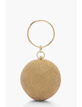 All Over Diamante Sphere Ring Handle Bag by Boohoo
