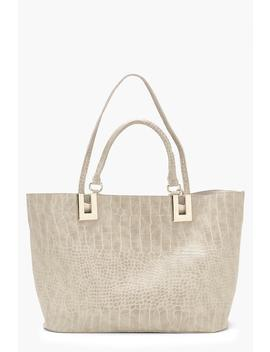 All Over Croc Daybag by Boohoo