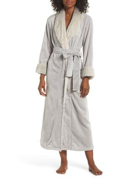 Alpine 52 Faux Fur Trim Robe by Natori