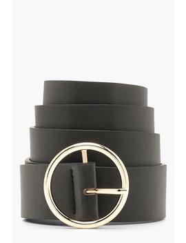 Circle Ring Boyfriend Belt by Boohoo