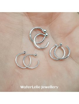 Fine Silver Huggie Earrings. Tiny Huggie Hoops. Sleeper Hoops. .999 Silver Huggie Earrings. Solid Silver Hoops. Silver Hugger Earrings. by Etsy