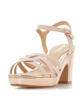 *Head Over Heels By Dune Rose Gold 'jaclyn' Sandals by Dorothy Perkins