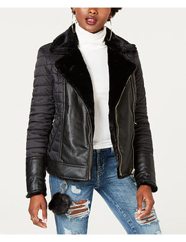 Mixed Media Reversible Jacket by Guess