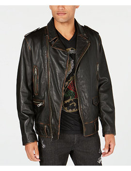 I.N.C. Men's Carter Leather Jacket, Created For Macy's by Inc International Concepts