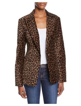 Mercer Leopard Print Tailored Jacket by A.L.C.