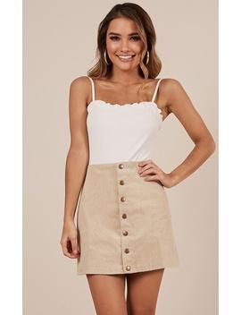 Open Season Skirt In Beige by Showpo Fashion