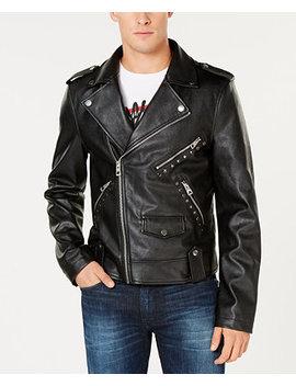 Men's Rising Tiger Moto Jacket by Guess