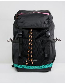 Asos Design Hiker Backpack In Black With Colored Trims by Asos Design