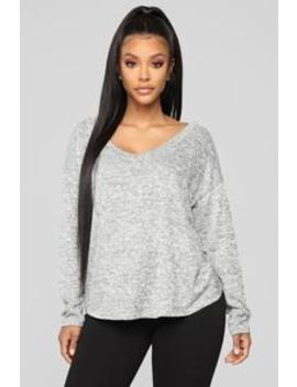 Open Up To You Top   Heather Grey by Fashion Nova