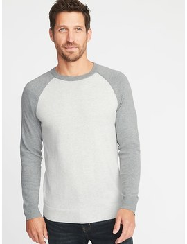 Color Block Raglan Sleeve Sweater For Men by Old Navy