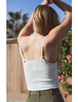 John Galt White Smocked Tank Top by Pacsun