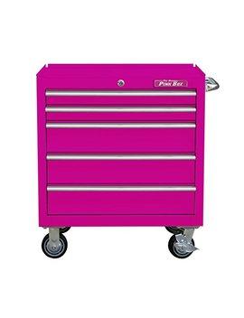 "The Original Pink Box Pb3005 R 30"" 5 Drawer Steel Rolling Cabinet, Premium Series, Pink by The Original Pink Box"