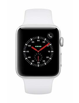 AppleWatch Series3 (Gps+Cellular, 42mm)   Silver Aluminium Case With White Sport Band by Apple