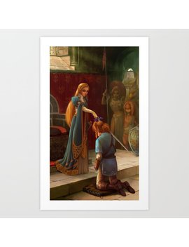 The Knighting Art Print by