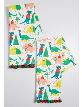 Prehistoric Present Dinosaur Tea Towel by Paper Source