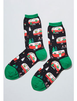 On The Road Again Holiday Socks by Modcloth