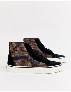 Vans Sk8 Hi Check Sneakers by Vans