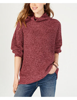 Juniors' Balloon Sleeved Turtleneck Sweater, Created For Macy's by American Rag