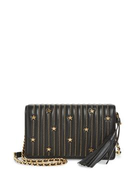 Star Studded Leather Wallet On A Chain by Tory Burch