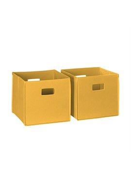 River Ridge 02 061 2 Piece Folding Storage Bin, Golden Yellow by River Ridge Home