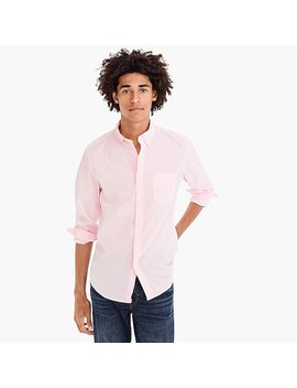 Stretch Secret Wash Shirt In Speckled Pink by J.Crew