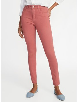 High Rise Secret Slim Pockets Pop Color Rockstar Super Skinny Jeans For Women by Old Navy