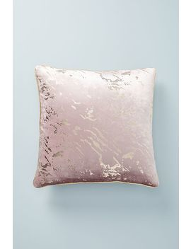 Gilded Velvet Cushion by Anthropologie