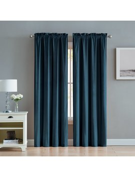 Alcott Hill Kiker Velvet Solid Room Darkening Rod Pocket Curtain Panels & Reviews by Alcott Hill