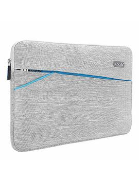 Lacdo 11 11.6 Inch Waterproof Fabric Laptop Sleeve Bag Compatible New Mac Book 12 Inch/Mac Book Air 11.6 / Surface Pro Surface Pro 5, 4, 3 / Asus Dell Hp Samsung Acer Chromebook Tablet Case, Gray by Lacdo